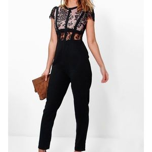 Boohoo Lace Corsetry Jumpsuit